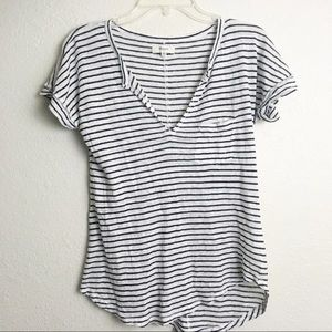 Madewell Black & White Striped Top